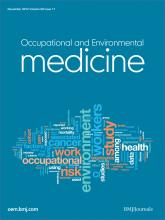 Occupational and Environmental Medicine: 69 (11)