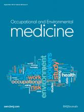 Occupational and Environmental Medicine: 69 (9)