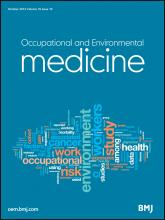 Occupational and Environmental Medicine: 70 (10)