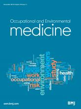 Occupational and Environmental Medicine: 70 (11)