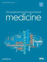 Occupational and Environmental Medicine: 71 (10)