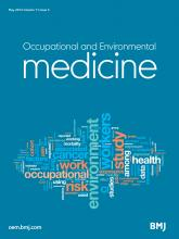 Occupational and Environmental Medicine: 71 (5)