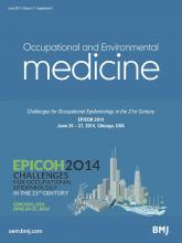 Occupational and Environmental Medicine: 71 (Suppl 1)
