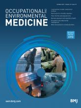 Occupational and Environmental Medicine: 74 (10)