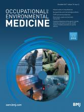 Occupational and Environmental Medicine: 74 (12)