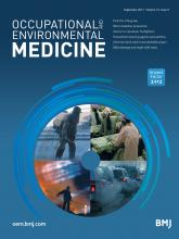 Occupational and Environmental Medicine: 74 (9)