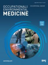 Occupational and Environmental Medicine: 75 (8)
