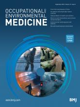 Occupational and Environmental Medicine: 75 (9)
