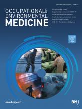 Occupational and Environmental Medicine: 77 (12)