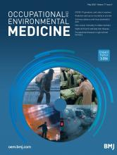 Occupational and Environmental Medicine: 77 (5)