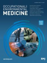 Occupational and Environmental Medicine: 77 (6)